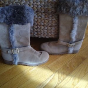 Coach Fur Lined Boots $110